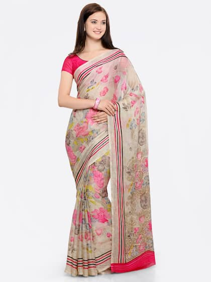 e44f9a7c77 Floral Sarees - Buy Floral Print Saree Online at Best Price