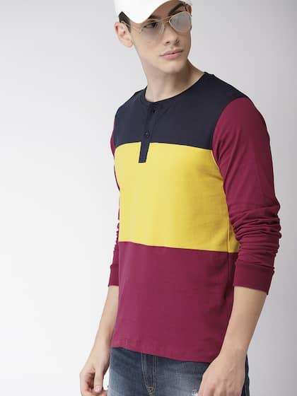 5b252e55 Harvard Henley Tshirts - Buy Harvard Henley Tshirts online in India