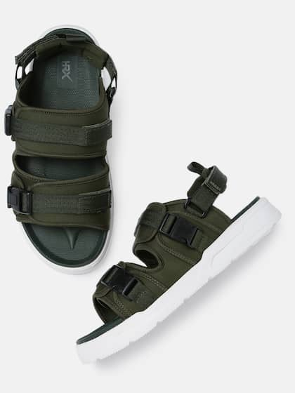 8b931c6666 HRX by Hrithik Roshan. Men Olive Green Sports Sandals