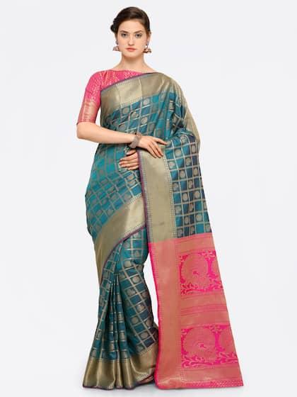 d55257f68d1 Ethnic Saree - Traditional Designer Ethnic Sarees Collection - Myntra
