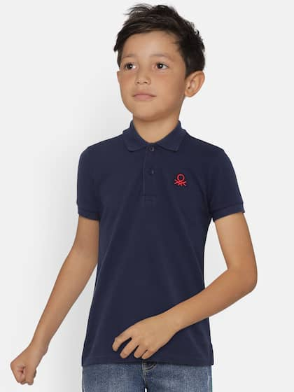 fb3a0016b United Colors of Benetton. Boys Solid Polo Collar T-shirt