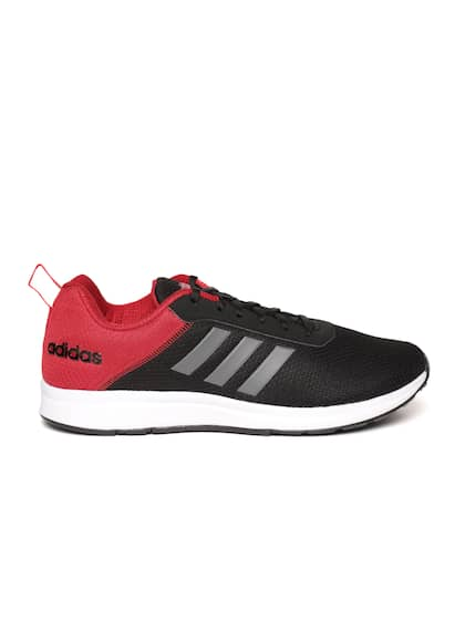 71f43ea2895de ADIDAS Men Black   Red ADISPREE 3 Colourblocked Running Shoes