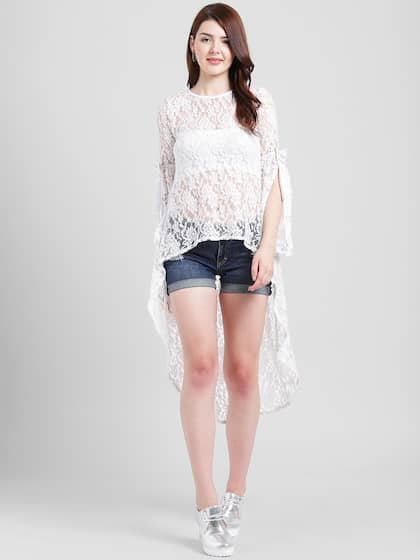 a926ae7907b71 White Party Tops - Buy White Party Tops online in India