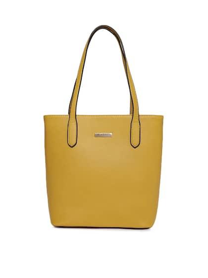 Mast Harbour Yellow Solid Shoulder Bag