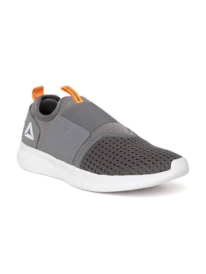 Reebok Men Grey Whizz Slip On Running Shoes