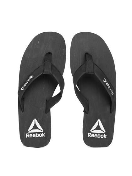 Reebok Men Black Hans Solid Thong Flip-Flops 9b72dd3dd