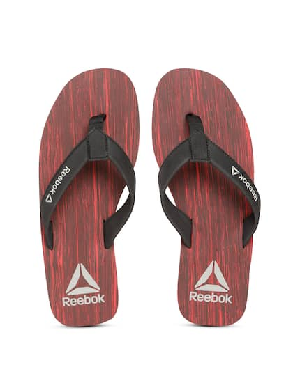 eec75c466f6 Reebok Men Black   Red HANS LP Printed Thong Flip-Flops