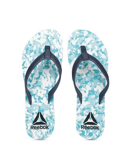3ba13f6a0 Reebok Women Teal   Navy Blue Printed DAMSEL Thong Flip-Flops