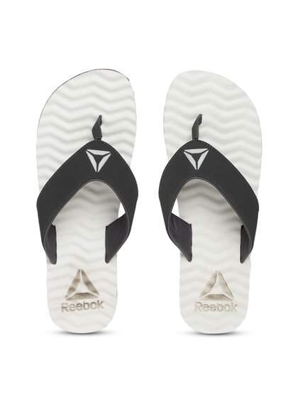 e3faf2322 Reebok Men Black   White FEZ LP Solid Thong Flip-Flops
