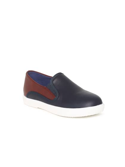 e597bc58bc6 Fame Forever by Lifestyle Boys Navy Blue   Brown Slip-On Sneakers
