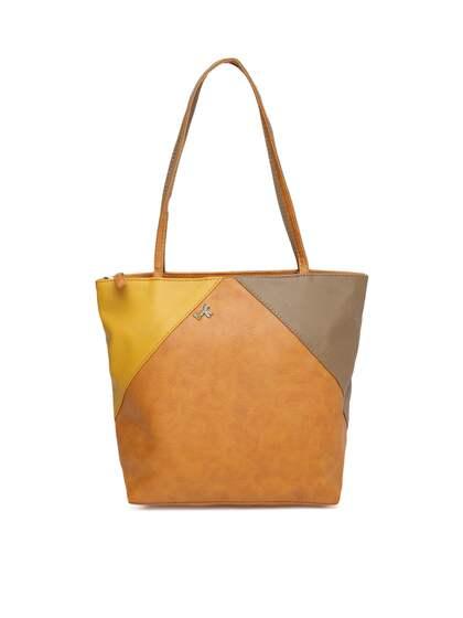 Baggit Brown Yellow Colourblocked Shoulder Bag