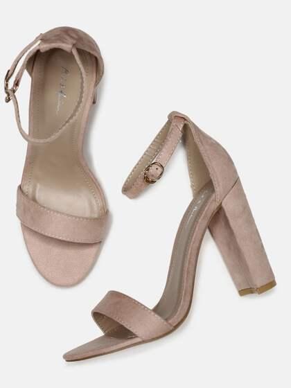 a6ef3213bb09 Mast   Harbour Women Pink Solid Open-Toe Heels