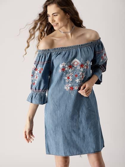 1f8d75113cd Denim Dresses - Buy Denim Dresses Online in India   Myntra