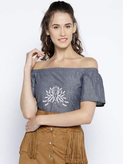 4aa1daf7cc7 Women Shirts Tops Tees Shoulder Focus - Buy Women Shirts Tops Tees ...