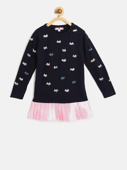 e3ef56e22a4ed Girl's Sweaters - Buy Sweaters for Girls Online in India | Myntra