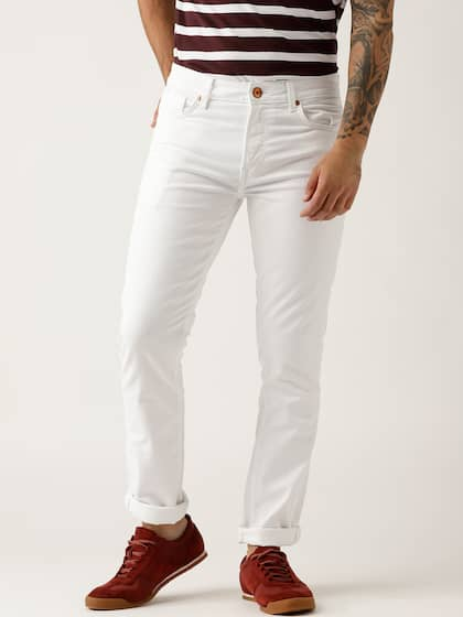e823a33951 United Colors of Benetton Men White Skinny Fit Mid-Rise Clean Look  Stretchable Jeans