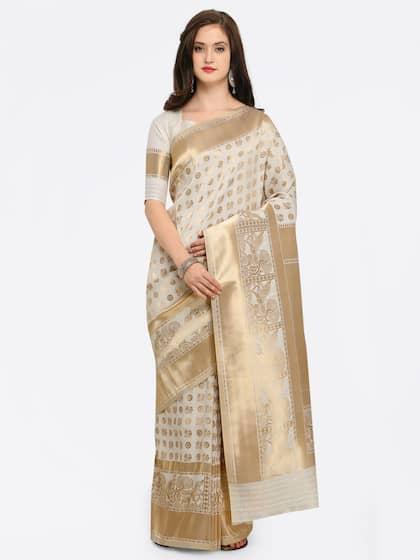 2d0e17b6458573 Banarsi Saree - Authentic Banarsi Sarees Online - Myntra
