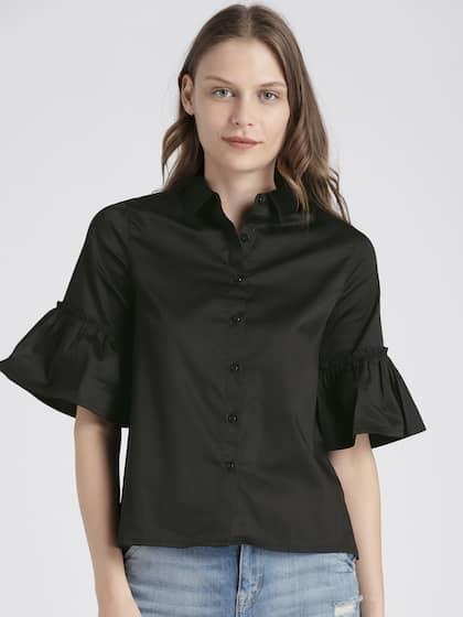 ca0cd23f2b3 Black Tops - Buy Black Colour Tops Online in India