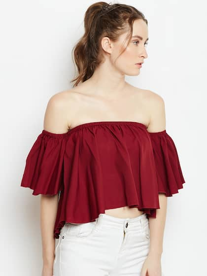 5fd791b873b Off Shoulder Tops - Buy Off Shoulder Tops Online in India | Myntra