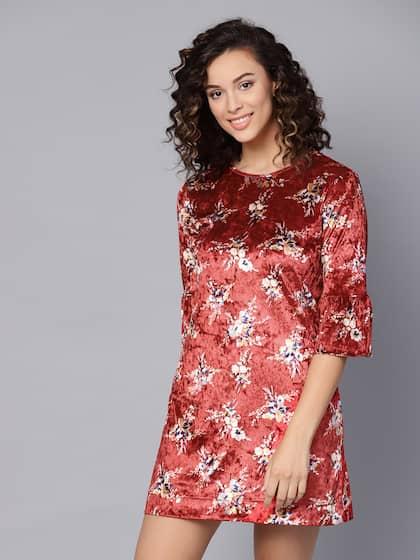 d726eaaaf904c Velvet Dresses - Shop for Velvet Dress Online in India | Myntra