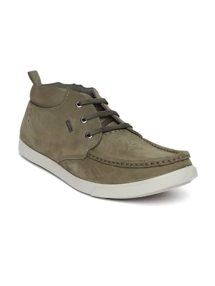 Woodland ProPlanet Men Olive Green Nubuck Leather Sneakers