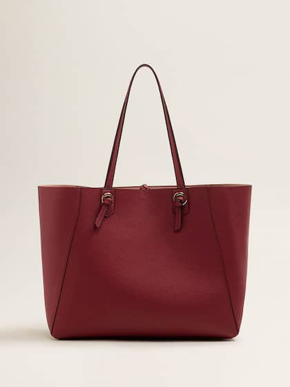 Mango Maroon Solid Shoulder Bag