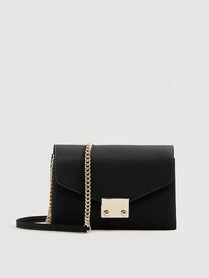 Mango Black Solid Sling Bag