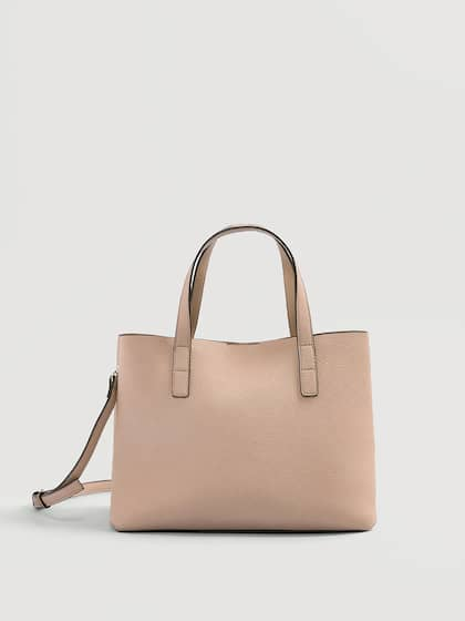 Mango Dusty Pink Solid Handheld Bag With Detachable Sling Strap