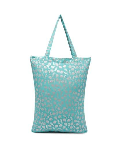 Accessorize Blue Printed Tote Bag