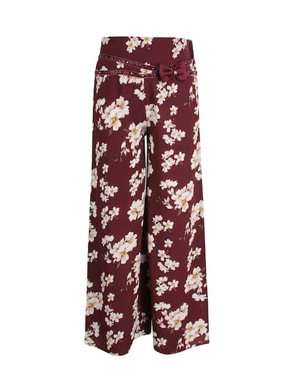 Kids Children Print Palazzo Wide Leg Trousers Flared Legging Pant Age 5-13 Years