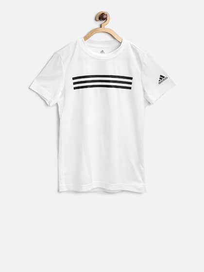 finest selection 615b2 f8dab Adidas Boys White YB Training Brand Tshirt