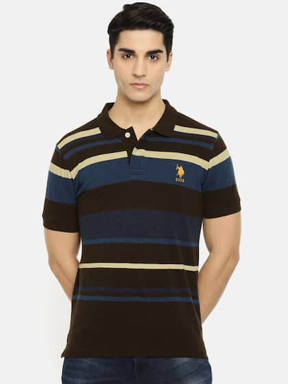 acff7463eef U.S. Polo Assn. Striped Polo Collar T-shirt