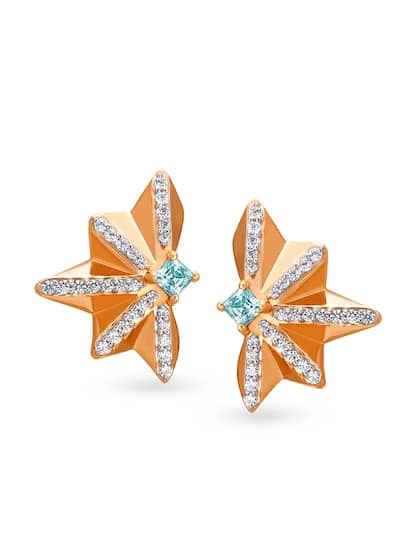 Mia Glam by Tanishq 14KT Rose Gold Cubic Zirconia Stud Earrings