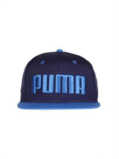 94bcc2b2 Puma Unisex Navy Blue Solid Flatbrim Snapback Cap