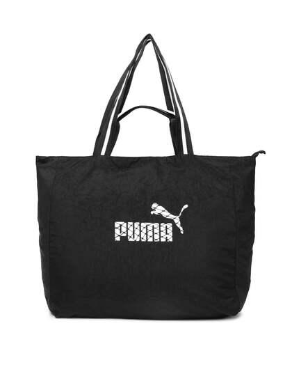 Puma Black Solid Core Large Per Shoulder Bag