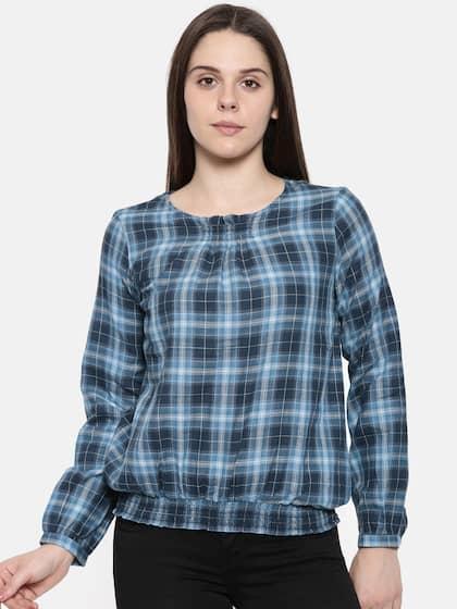 0eedbb596e505 Lee Cooper Blue Tops - Buy Lee Cooper Blue Tops online in India