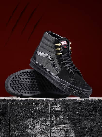 9b40d9daafb012 Vans. Marvel Black Panther Sneakers