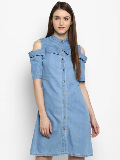 b09eb493b94 Denim Dresses - Buy Denim Dresses Online in India