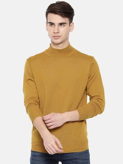 Men Mustard Sweaters Buy Men Mustard Sweaters Online In India
