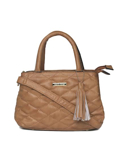David Jones Brown Textured Handheld Bag
