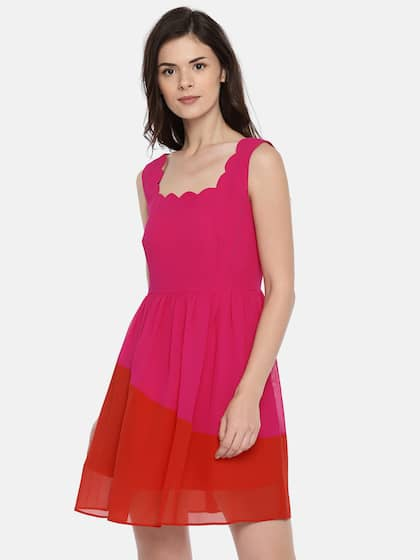 7fe5094de461 Pink Dresses Women Tunics - Buy Pink Dresses Women Tunics online in ...