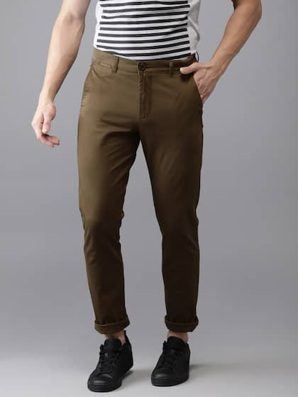 f05cb3a0dd9b93 Brown Trousers | Buy Brown Trousers Online in India at Best Price