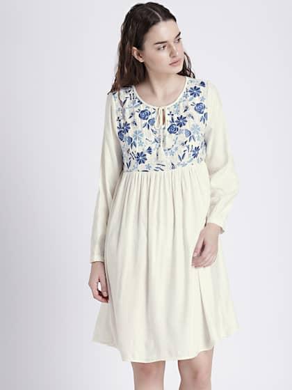 Cotton Dress Buy Cotton Dresses Online At Best Price Myntra