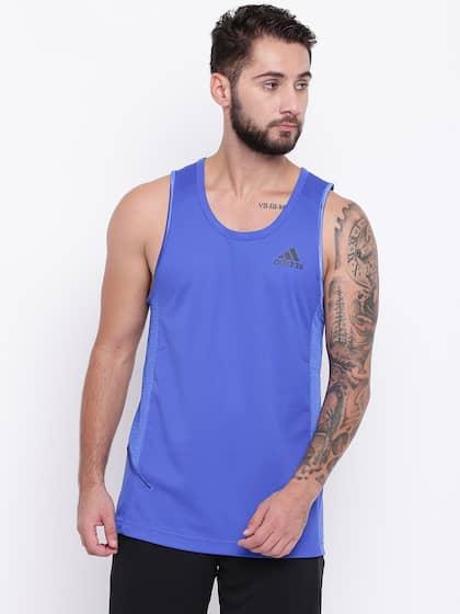 db1a382b66bd7c Adidas Sleeveless Tshirts - Buy Adidas Sleeveless Tshirts online in ...