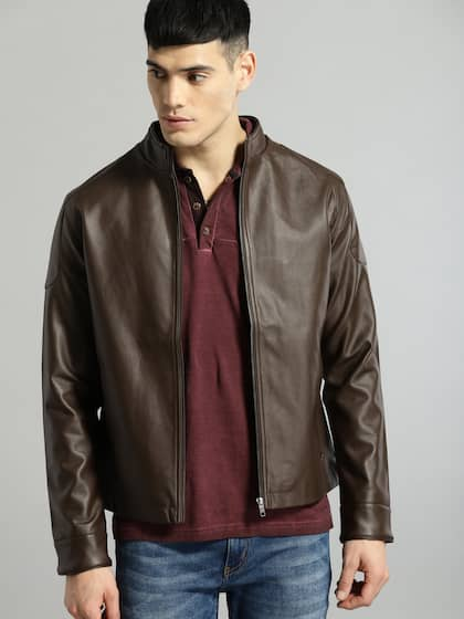 e2493254c Men Leather Jackets - Buy Leather Jackets For Men Online | Myntra
