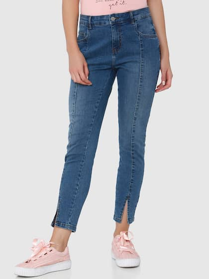 Vero Moda Women Blue Regular Fit Mid-Rise Clean Look Stretchable Jeans