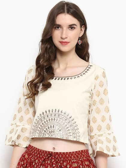 1b670115aea426 Crop Tops - Buy Midriff Crop Tops Online for Women in India