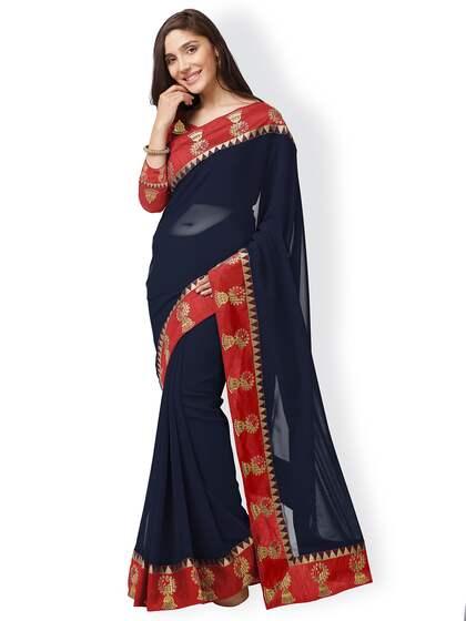 cfd3f85aab Blue Saree - Buy Blue Color Women Sarees Online