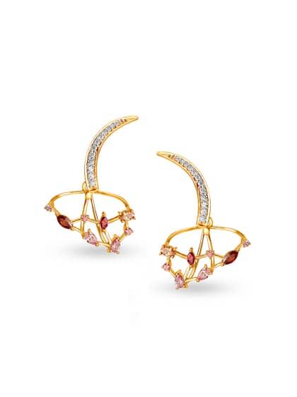 Mia By Tanishq Women 2 64 Gm 14kt Cubic Zirconia Stud Earrings