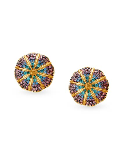 Mia By Tanishq Women 4 3 Gm 14kt Cubic Zirconia Stud Earrings